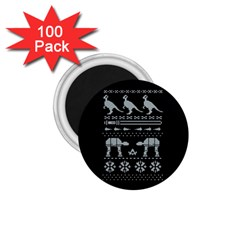Holiday Party Attire Ugly Christmas Black Background 1.75  Magnets (100 pack)