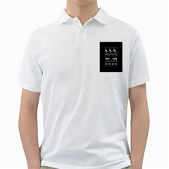 Holiday Party Attire Ugly Christmas Black Background Golf Shirts