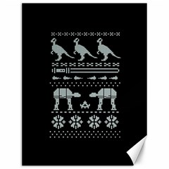 Holiday Party Attire Ugly Christmas Black Background Canvas 12  x 16