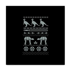 Holiday Party Attire Ugly Christmas Black Background Face Towel