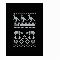 Holiday Party Attire Ugly Christmas Black Background Large Garden Flag (two Sides)