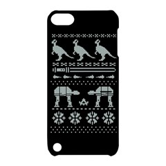 Holiday Party Attire Ugly Christmas Black Background Apple Ipod Touch 5 Hardshell Case With Stand