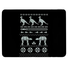 Holiday Party Attire Ugly Christmas Black Background Samsung Galaxy Tab 7  P1000 Flip Case