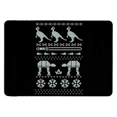 Holiday Party Attire Ugly Christmas Black Background Samsung Galaxy Tab 8.9  P7300 Flip Case