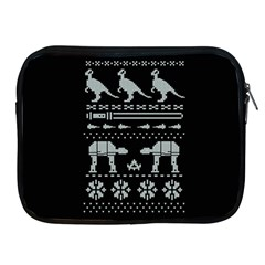 Holiday Party Attire Ugly Christmas Black Background Apple iPad 2/3/4 Zipper Cases