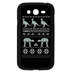 Holiday Party Attire Ugly Christmas Black Background Samsung Galaxy Grand DUOS I9082 Case (Black)