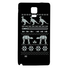 Holiday Party Attire Ugly Christmas Black Background Galaxy Note 4 Back Case