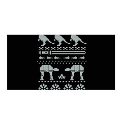 Holiday Party Attire Ugly Christmas Black Background Satin Wrap