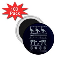 Holiday Party Attire Ugly Christmas Blue Background 1 75  Magnets (100 Pack)