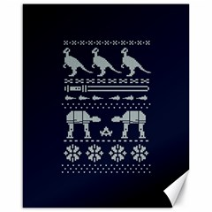 Holiday Party Attire Ugly Christmas Blue Background Canvas 16  X 20