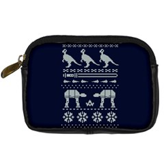 Holiday Party Attire Ugly Christmas Blue Background Digital Camera Cases