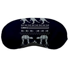 Holiday Party Attire Ugly Christmas Blue Background Sleeping Masks