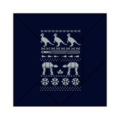 Holiday Party Attire Ugly Christmas Blue Background Acrylic Tangram Puzzle (6  x 6 )