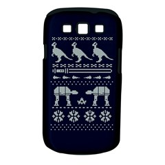 Holiday Party Attire Ugly Christmas Blue Background Samsung Galaxy S III Classic Hardshell Case (PC+Silicone)