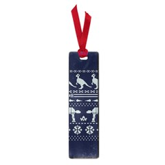 Holiday Party Attire Ugly Christmas Blue Background Small Book Marks