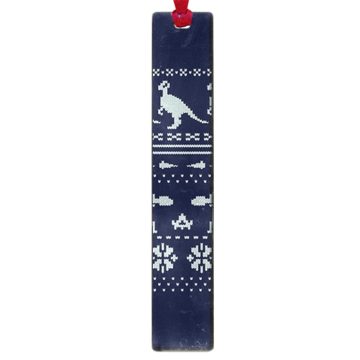 Holiday Party Attire Ugly Christmas Blue Background Large Book Marks