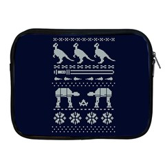 Holiday Party Attire Ugly Christmas Blue Background Apple iPad 2/3/4 Zipper Cases