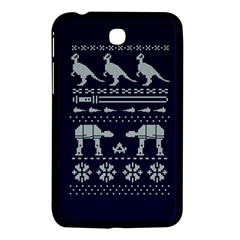 Holiday Party Attire Ugly Christmas Blue Background Samsung Galaxy Tab 3 (7 ) P3200 Hardshell Case