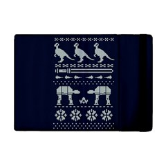 Holiday Party Attire Ugly Christmas Blue Background Ipad Mini 2 Flip Cases