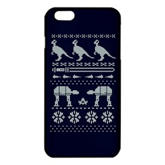 Holiday Party Attire Ugly Christmas Blue Background Iphone 6 Plus/6s Plus Tpu Case