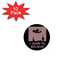 I Juan To Believe Ugly Holiday Christmas Black Background 1  Mini Buttons (10 pack)