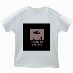 I Juan To Believe Ugly Holiday Christmas Black Background Kids White T Shirts