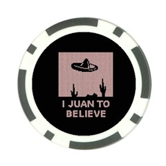 I Juan To Believe Ugly Holiday Christmas Black Background Poker Chip Card Guard (10 pack)