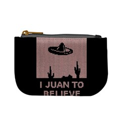 I Juan To Believe Ugly Holiday Christmas Black Background Mini Coin Purses