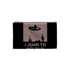 I Juan To Believe Ugly Holiday Christmas Black Background Cosmetic Bag (small)
