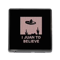 I Juan To Believe Ugly Holiday Christmas Black Background Memory Card Reader (square)