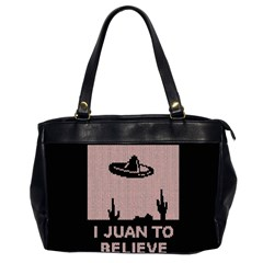 I Juan To Believe Ugly Holiday Christmas Black Background Office Handbags (2 Sides)