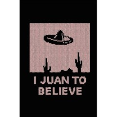I Juan To Believe Ugly Holiday Christmas Black Background 5.5  x 8.5  Notebooks