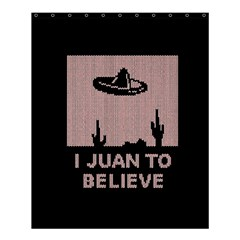 I Juan To Believe Ugly Holiday Christmas Black Background Shower Curtain 60  x 72  (Medium)