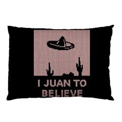 I Juan To Believe Ugly Holiday Christmas Black Background Pillow Case (Two Sides)