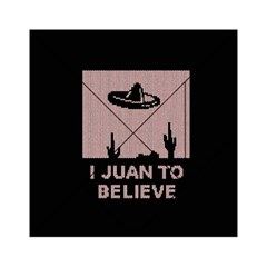 I Juan To Believe Ugly Holiday Christmas Black Background Acrylic Tangram Puzzle (6  x 6 )