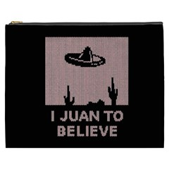 I Juan To Believe Ugly Holiday Christmas Black Background Cosmetic Bag (xxxl)