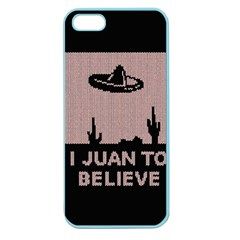 I Juan To Believe Ugly Holiday Christmas Black Background Apple Seamless Iphone 5 Case (color)