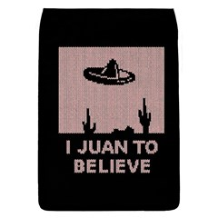 I Juan To Believe Ugly Holiday Christmas Black Background Flap Covers (l)