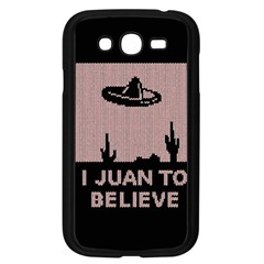 I Juan To Believe Ugly Holiday Christmas Black Background Samsung Galaxy Grand Duos I9082 Case (black)