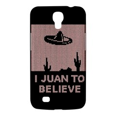 I Juan To Believe Ugly Holiday Christmas Black Background Samsung Galaxy Mega 6.3  I9200 Hardshell Case