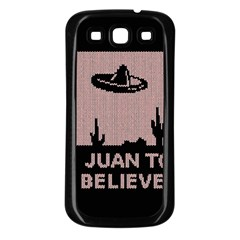 I Juan To Believe Ugly Holiday Christmas Black Background Samsung Galaxy S3 Back Case (Black)