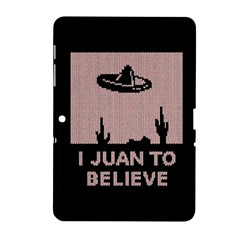 I Juan To Believe Ugly Holiday Christmas Black Background Samsung Galaxy Tab 2 (10 1 ) P5100 Hardshell Case