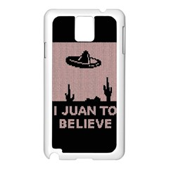I Juan To Believe Ugly Holiday Christmas Black Background Samsung Galaxy Note 3 N9005 Case (White)