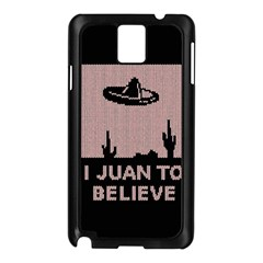 I Juan To Believe Ugly Holiday Christmas Black Background Samsung Galaxy Note 3 N9005 Case (black)