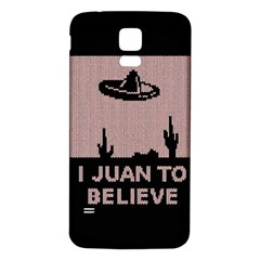 I Juan To Believe Ugly Holiday Christmas Black Background Samsung Galaxy S5 Back Case (White)