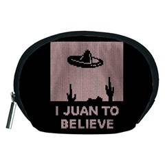 I Juan To Believe Ugly Holiday Christmas Black Background Accessory Pouches (Medium)
