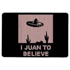 I Juan To Believe Ugly Holiday Christmas Black Background iPad Air 2 Flip