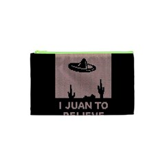 I Juan To Believe Ugly Holiday Christmas Black Background Cosmetic Bag (XS)