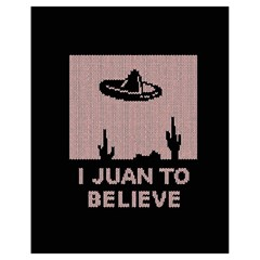 I Juan To Believe Ugly Holiday Christmas Black Background Drawstring Bag (Small)