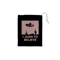 I Juan To Believe Ugly Holiday Christmas Black Background Drawstring Pouches (XS)